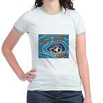 Keep Mum Chum War Poster Jr. Ringer T-Shirt