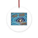 Keep Mum Chum War Poster Ornament (Round)