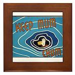 Keep Mum Chum War Poster Framed Tile