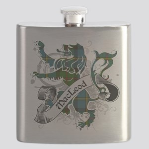 MacLeod Tartan Lion Flask