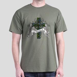 MacLeod Tartan Cross Dark T-Shirt