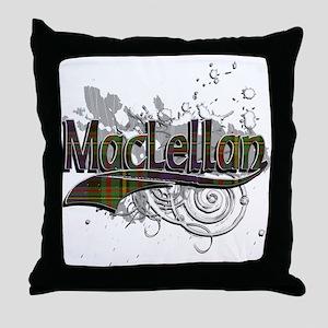 MacLellan Tartan Grunge Throw Pillow