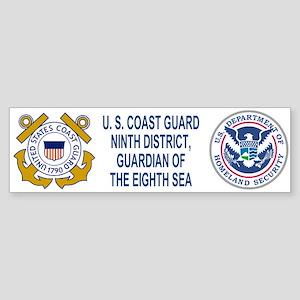 9th Coast Guartd District<BR>Bumper Sticker