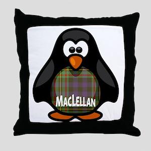 MacLellan Tartan Penguin Throw Pillow