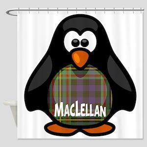 MacLellan Tartan Penguin Shower Curtain