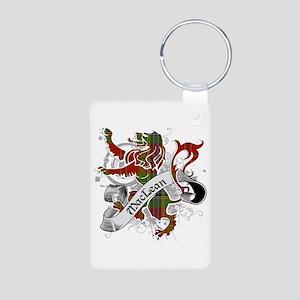 MacLean Tartan Lion Aluminum Photo Keychain