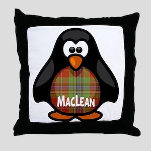 MacLean Tartan Penguin Throw Pillow