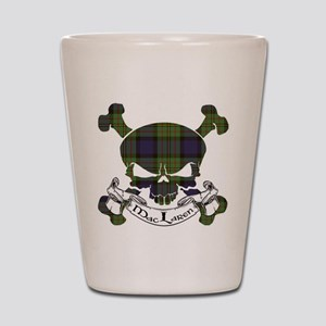 MacLaren Tartan Skull Shot Glass