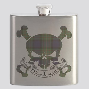 MacLaren Tartan Skull Flask