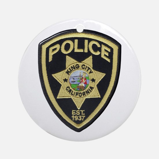 King City Police Ornament (Round)