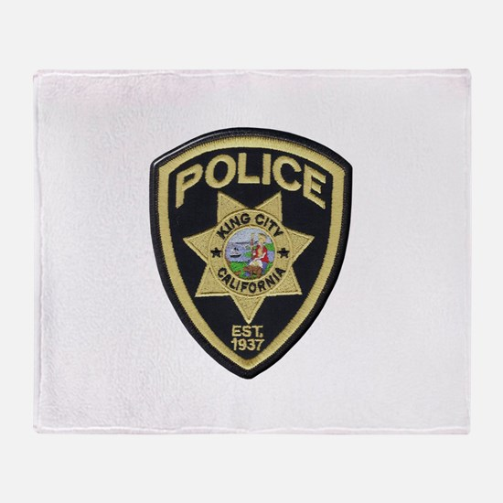 King City Police Throw Blanket
