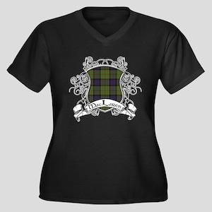 MacLaren Tar Women's Plus Size V-Neck Dark T-Shirt