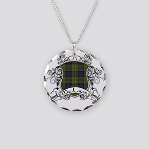 MacLaren Tartan Shield Necklace Circle Charm