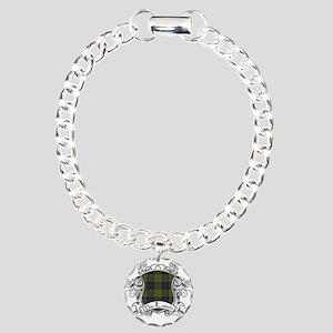 MacLaren Tartan Shield Charm Bracelet, One Charm