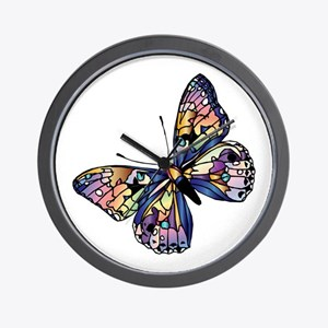 Exotic Butterfly Wall Clock