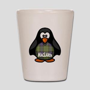 MacLaren Tartan Penguin Shot Glass