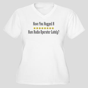 Hugged Ham Radio Operator Women's Plus Size V-Neck