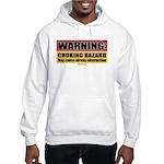 BJJ Warning - Choking Hazard hooded sweatshirt