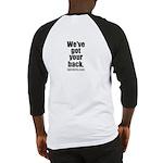 We've got your back - BJJ baseball shirt