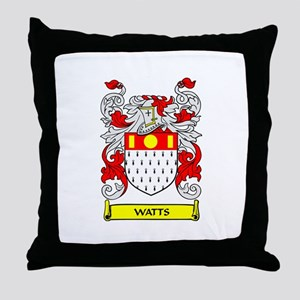 WATTS Coat of Arms Throw Pillow