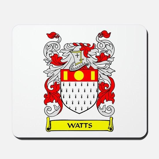 WATTS Coat of Arms Mousepad