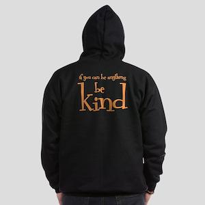 BE KIND (2-sided) Zip Hoodie (dark)