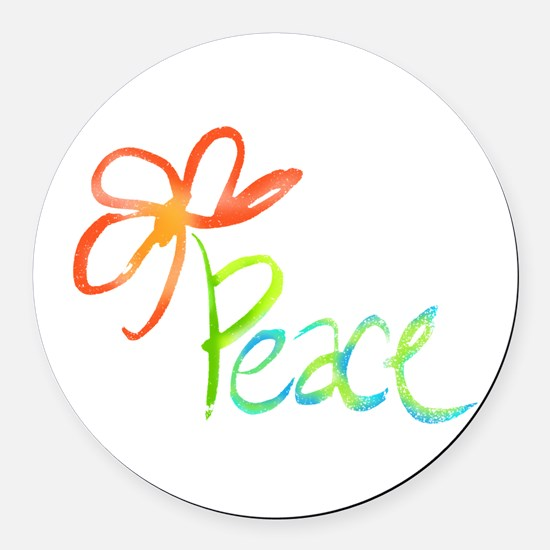 Unique Peace Round Car Magnet