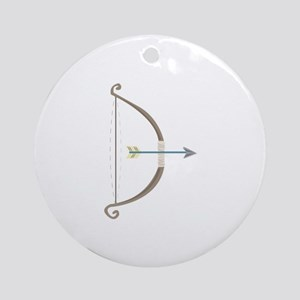 Bow and Arrow Ornament (Round)