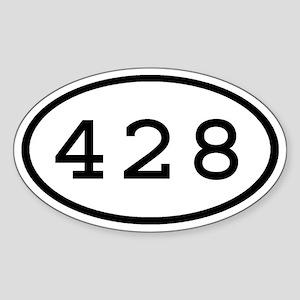 428 Oval Oval Sticker