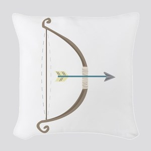 Bow and Arrow Woven Throw Pillow