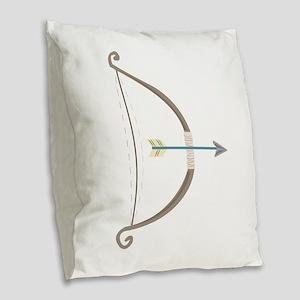 Bow and Arrow Burlap Throw Pillow