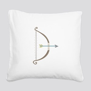 Bow and Arrow Square Canvas Pillow