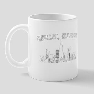 Chicago, Illinois Skyline Mug