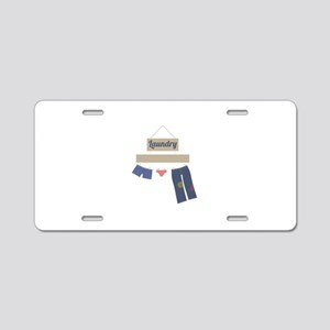 Laundry Aluminum License Plate