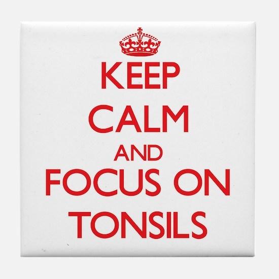 Cute Tonsillitis Tile Coaster