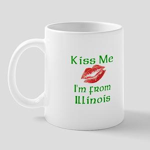 Kiss Me I'm from Illinois Mug