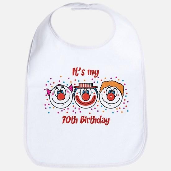 Its my 70th Birthday (Clown) Bib