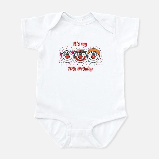 Its my 70th Birthday (Clown) Infant Bodysuit