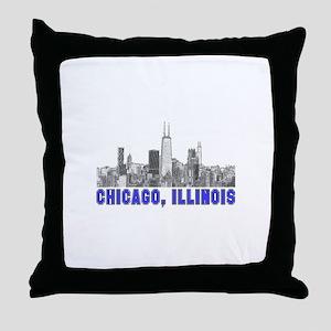 Chicago, Illinois Throw Pillow