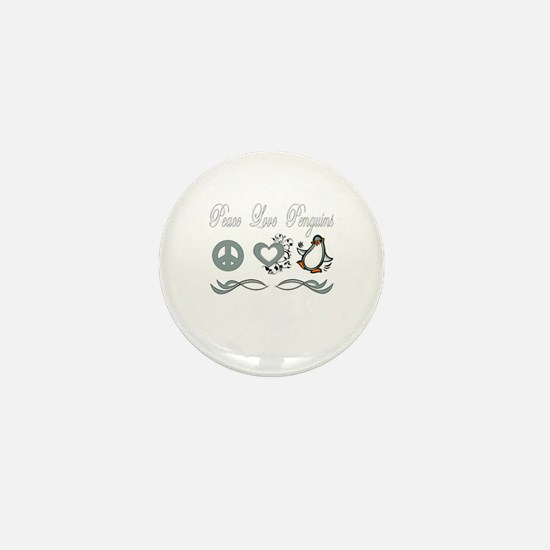 Cute I love penguins Mini Button