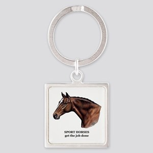 Sport Horse Square Keychain