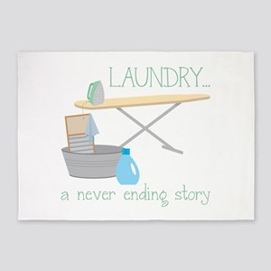 Laundry... Never Ending Story 5'x7'Area Rug