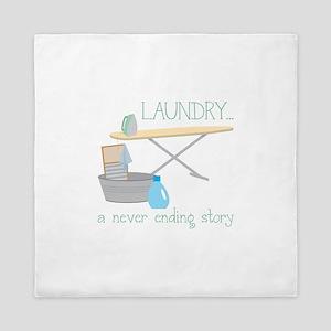 Laundry... Never Ending Story Queen Duvet