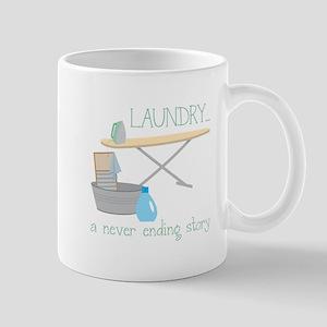 Laundry... Never Ending Story Mugs