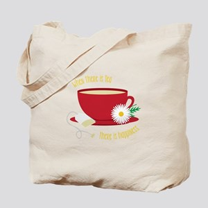 Tea Is Happiness Tote Bag