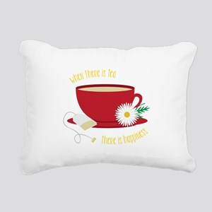 Tea Is Happiness Rectangular Canvas Pillow