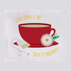Tea Is Happiness Throw Blanket