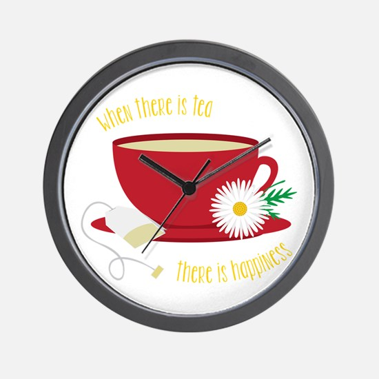 Tea Is Happiness Wall Clock