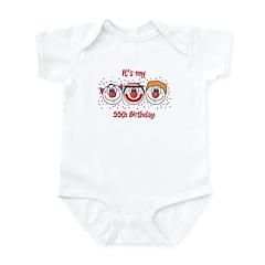 Its my 55th Birthday (Clown) Infant Bodysuit