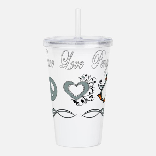 Funny Penguins love Acrylic Double-wall Tumbler